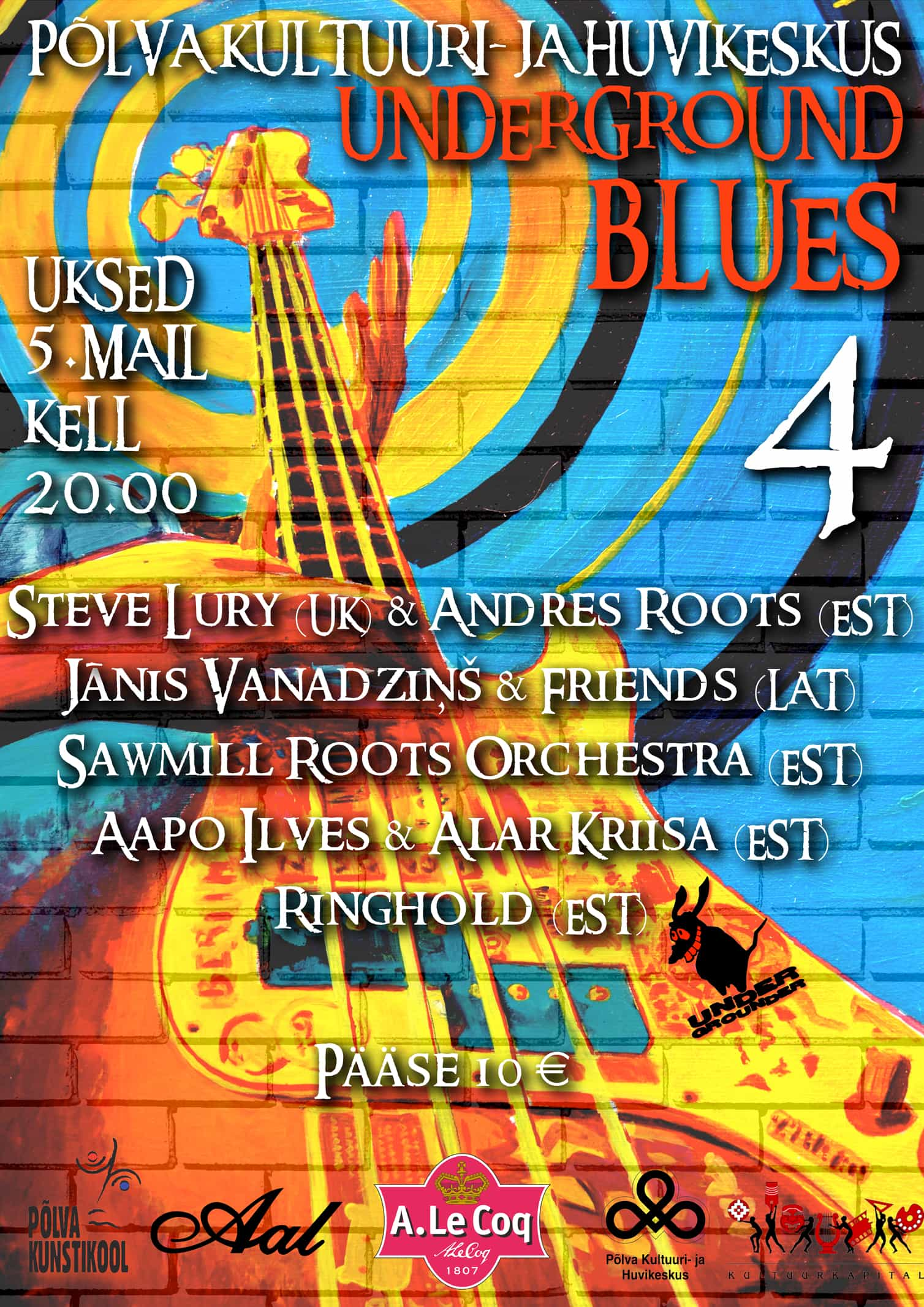 UNDERGROUND BLUES 5. mail kella 20:00 plakat