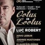 Maailma ooperilavade täht LUC ROBERT (tenor, Kanada) KLAASPÄRLIMÄNG SINFONIETTA